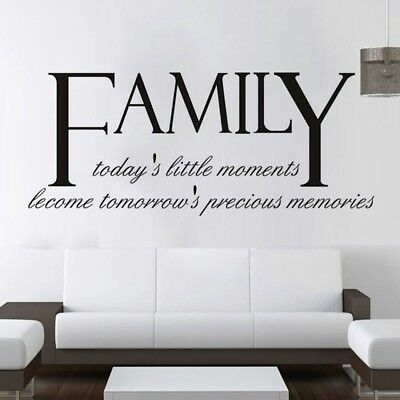 1x FAMILY Letter Quote Removable Vinyl Decal Wall Sticker Art Mural Home Decor