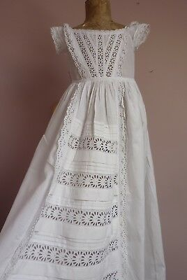 Antique/Vintage Beautiful Long Baby Gown~Dress For Doll~Display
