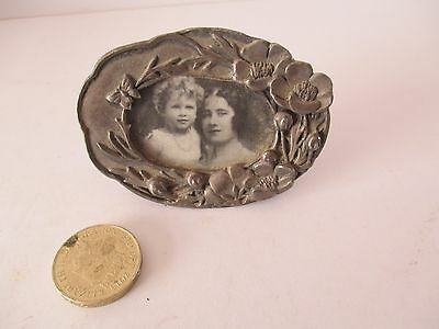 Silver Plated Miniature Picture Frame - Royal Photo - Verse Round The Border