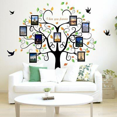 Family Tree Picture Frame Set For Walls Photo Decal Collage 9 Frames