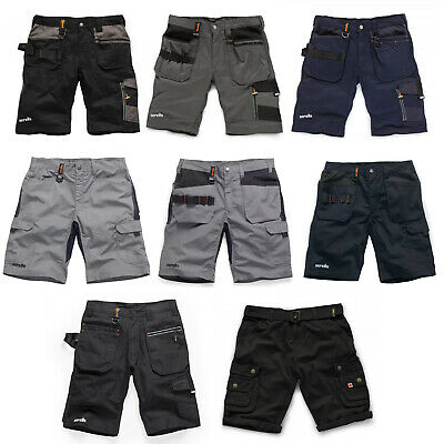Scruffs Work Shorts (Various Styles) Men's Combat Cargo Trade Black Navy & Grey
