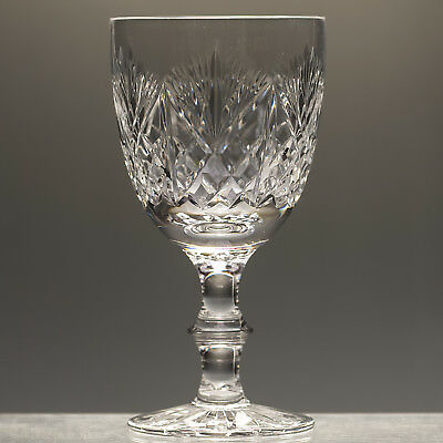 "Edinburgh Crystal Iona Wine Glass Goblet h 5.75"" not signed seconds"