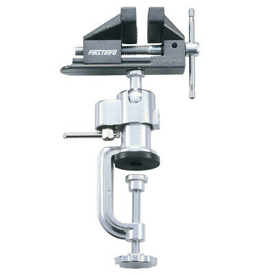 FIT Heavy Duty Chrome Plated Swivel Table Vice Clamp w/Bench Mounted -US