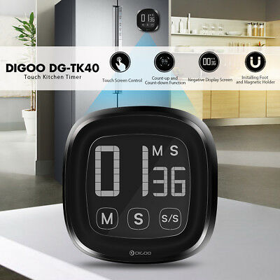 Digoo Digital Kitchen Cooking Timer LCD Touch Electric Magnetic Count Down Timer