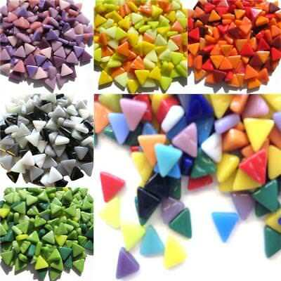 10mm Mini Glass Triangle mosaic for Arts and Crafts - Various Colours
