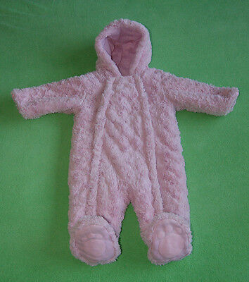 bc1eb7f59 GEORGE PINK WARM baby girl snowsuit pramsuit all in one 6-9 months ...