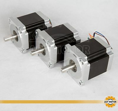 ACT MOTOR GmbH 3PCS Nema34 Stepper Motor 34HS9820 8Leads 4Phase 2A 100mm 6.3Nm
