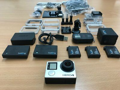 GoPro Hero 4 Black w/ lot accessories (Go Pro), waterproof case, remote control