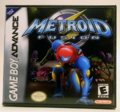 Metroid Fusion GBA Custom Replacement CASE - Black Case (*NO GAME*)