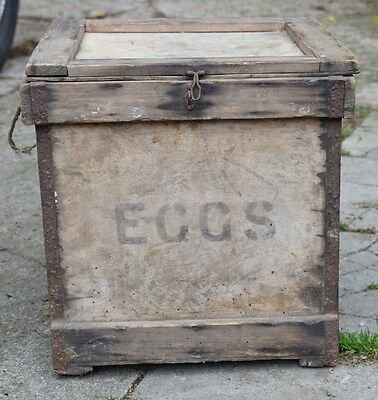 Eggs Wooden Crate