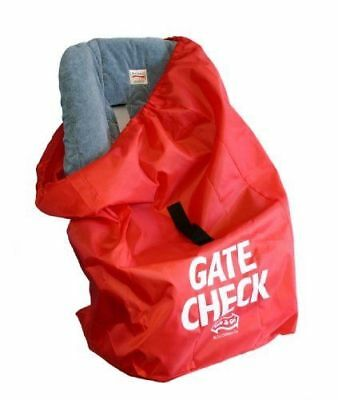 JL Childress Gate Check Bag for Car Seats - Newborn and Above (Red)