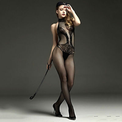 SEXY Dessous BODY Catsuit Schwarz uniform Stretch NETZ Fishnet Stocking ONE SIZE