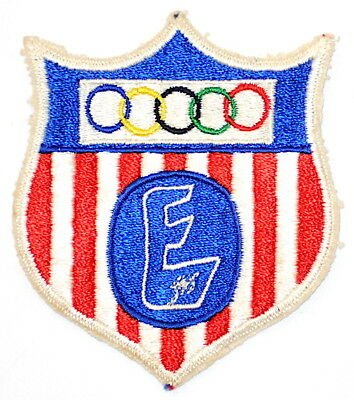 """A Vintage Boy Scouts of America National Explorer Olympics Shield (3"""") Patch BSA"""