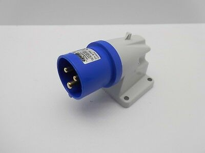 Gewiss Gw60404 16 Amp 3 Pin 240 Volt Blue Appliance Inlet Surface Mounted Plug