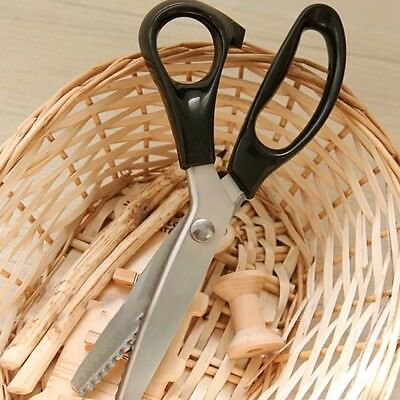Stainless Pro Zig Zag Sewing Cut Dressmaking Tailor Shears Pinking Scissors TT