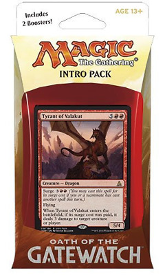 Magic The Gathering Oath of The Gatewatch Intro Pack - Surge of Resistance (Red)