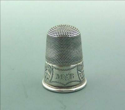 Antique Georgian Early Victorian Silver Thimble C1830 -1850