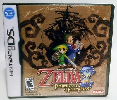 The Legend of Zelda Phantom Hourglass DS Replacement CASE - Black Case *NO GAME*