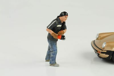 Mechanic Garage Chop Shop Mr Chopman Figurine Figurines 1:24 AMERICAN DIORAMA