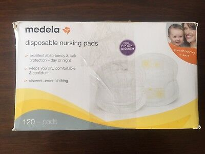 Medela Disposable Nursing Bra Pads, 120 Count, Soft Cotton Nylon and Absorbent