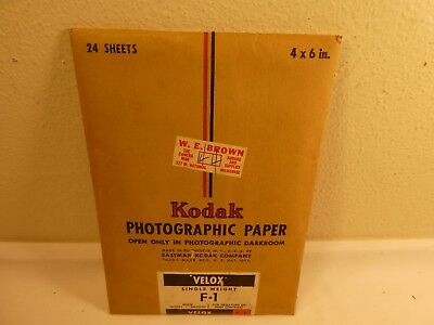 Vintage Kodak Photographic Paper Velox F-1 (4X6) Sealed