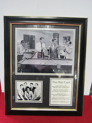 Framed The Rat Pack Pool Collectors Photos (11568-Closet-Ms)