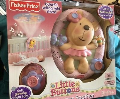 Fisher Price Little Buttons Sweet Scenes Soother Night Light & Music NRFB
