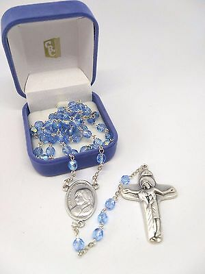 Saint Mother Teresa of Calcutta Glass Bead Rosary - Made in Italy
