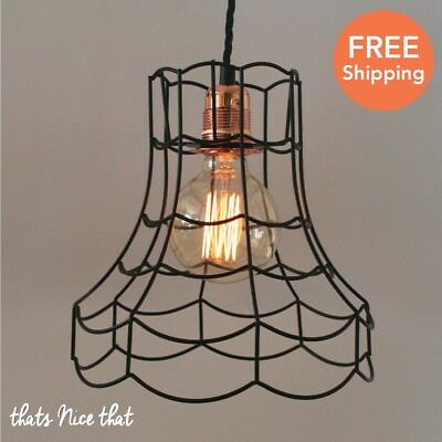 Industrial lampshade light lamp shade frame fitting cage bulb wire industrial lampshade light lamp shade frame fitting cage bulb wire vintage retro keyboard keysfo Image collections