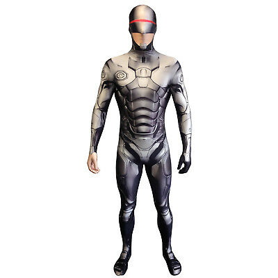 SALE! Morphsuit Robocop Fancy Dress Costume Great For Festival Control REDUCED