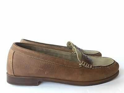 409d4de59b0 GH BASS WEEJUNS HANDCRAFTED Brown Leather Penny Loafers Shoe Women s Size  8.5 M -  25.00