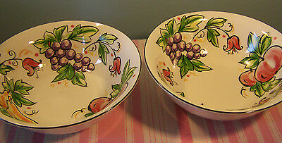 2 Tabletops Unlimited Sweet Orchard Soup Cereal Bowls 7""
