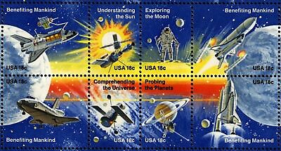 US Scott 1912-1919 SPACE achievement issue sheet Mint NH
