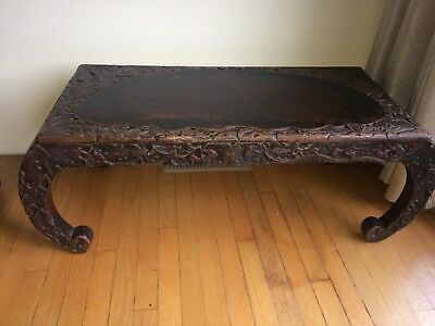 Vintage Chinese Chow bench circa early 20th century
