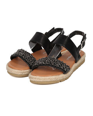 96653a5b5218 New Women Nature Breeze Carly-02 Leatherette Beaded Espadrille Slingback  Sandal