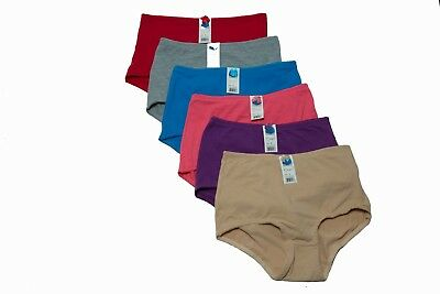 Lot of 6 Women Briefs Full Cover Cotton Underwear Mixed Colors S M L XL 2XL 3XL