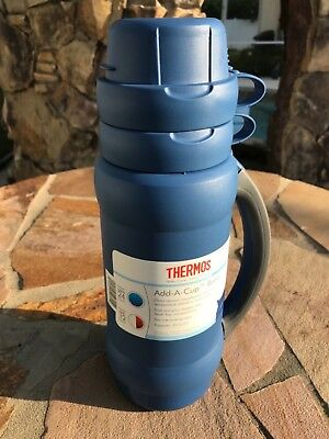 Thermos 3410ATR14 Add-A-Cup™ Beverage Bottle blue 2 cups
