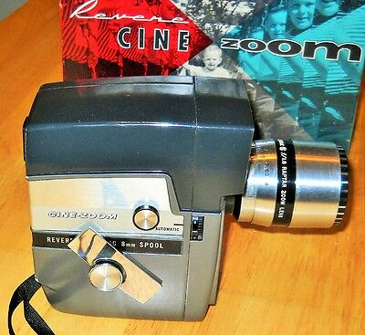 Revere Model 141 Cine Zoom Electric Eye Matic 8mm Movie Camera in Original Box