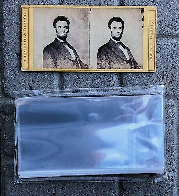 (100) Stereoview Card Sleeves Polypropylene ACID FREE and ARCHIVAL SAFE 1.5 Mil