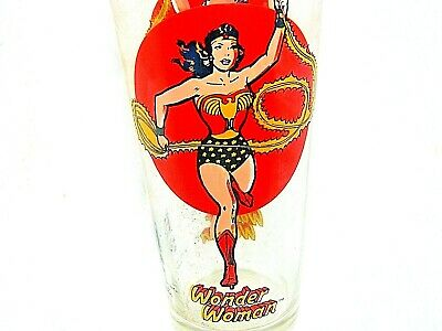 1976 Wonder Woman Pepsi Super Series Dc Marvel Drinking Glass Collectible Cup