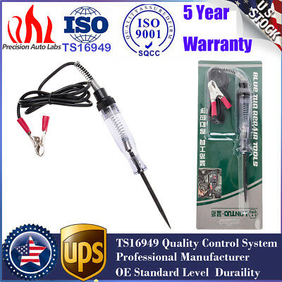 Car Voltage Circuit Tester For Long Probe Continuity Test Light  6/12V DC System