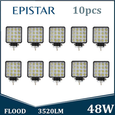 10X 48W LED Work Light FLOOD Light OffRoad 4X4WD Boat Jeep Truck SUV Driving ATV