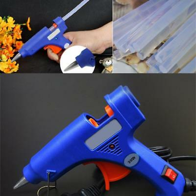 20W Electric Heating Melt Glue Gun 7mm Adhesive Stick Hot Repair Tools