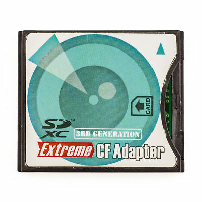 EXTREME SD SDHC SDXC TO CF TYPE II COMPACT FLASH MEMORY CARD ADAPTER READER fo