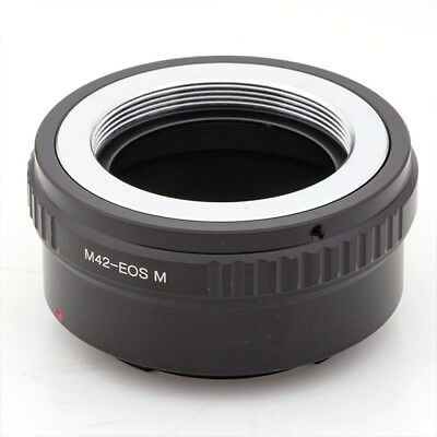 Lens Adapter Ring For M42 Screw Mount Lens To Canon EOS M EOS-M2 EF-M camera