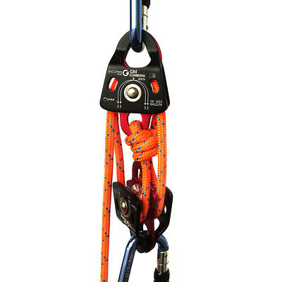 New Block and Tackle Systems 40kN Micro Double Pulley & Double Braid Rope CE