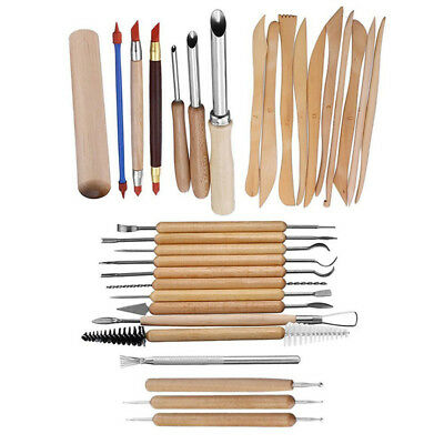 31PCS Clay Sculpting Set Wax Carving Pottery Tools Shapers Polymer Modeling DY