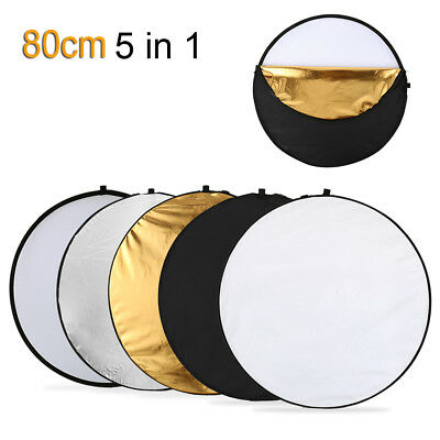 New 80cm 5 in 1 Photography Studio Multi Photo Disc Collapsible Light Reflector