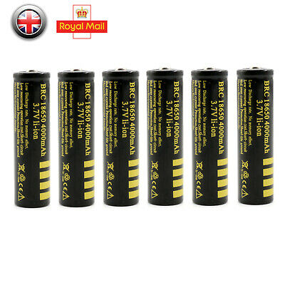 Quality BRC Protected 18650 Rechargeable Li-ion Battery 4000mAh 3.7V UK Seller