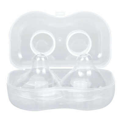 2pc Soft Silicone Breast Feeding Closer to Nature Nipple Shields/Protectors Baby